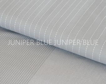 Grey Stitched- Stitched Collection from Robert Kaufman, Cotton Chambray Fabric