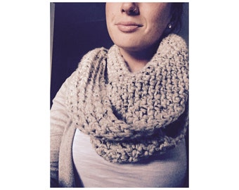 Handmade Crocheted Scarf- Oatmeal // Gifts for her// holiday gift// clothing & accessories