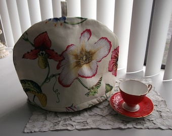 Tropical Flowers Tea Cozy with Liner Botanical PrintTea Cosy