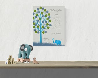 Godson  Christening Gift | Gift from Godparents | Gift From Godmother | Godson Baptism Gift | Printable Baby Art - 50177