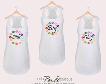 Big Little GBig GGBig Sorority tanks, sorority tank, Little Big, Greek shirt, Little sister, Big Sister, Big and Little shirts d45
