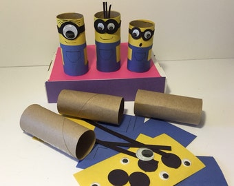 Minions Craft Kit Paper Tube Craft Kit Kids Craft Kit