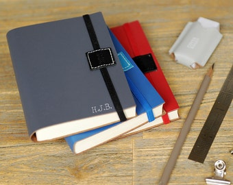 Personalised Recycled Leather Journal Small