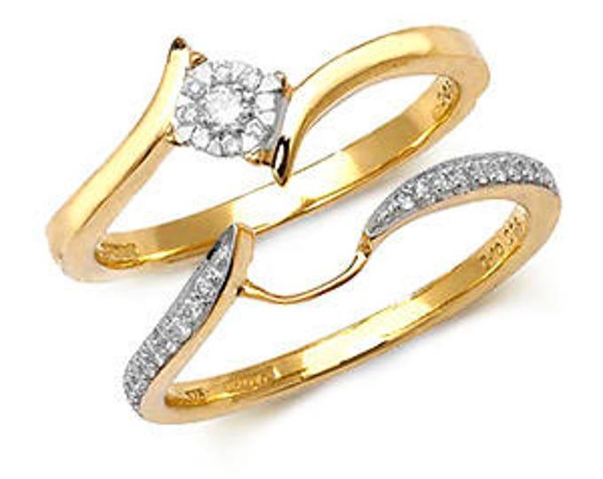 Diamond Wedding Ring BRILLIANT CROSSOVER SET