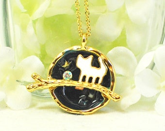 Cat Necklace Cats Rule - Animal Jewelry - Cat Lover Gift - Kitty Cat - Cat Jewelry - Cat Gift - Gift for Her - Cat Pendant - Kitty Necklace
