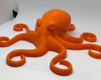 Octopus 3D, Octopus Art, Octopus Decor, Gift, Nautical, Baby Octopus, Sea Creature, Giant Octopus