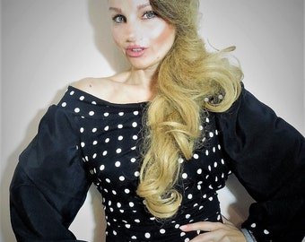 Top chic glamour, dots, chic vintage top pattern top