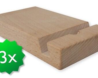 Three pack original friendly wooden ipad stand