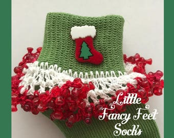 Christmas stockings socks - fits size 6-18 months
