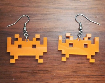 Invaders! Possibly from space!  Earrings