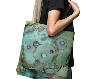 Abstract Art Diaper Bag Baby Tote Bag face tote bag art beach bag artist tote abstract art computer bag gym bag grocery bag school bag art