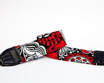Red and Black Fashion Camera Strap