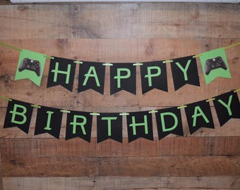 Personalized Xbox Banner, Xbox Birthday Banner, Xbox Banner, Xbox Decoration, Xbox Decor, Personalized Banner, Xbox, Gaming Party, Gaming