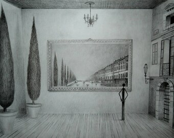 The picture of the situation; pencil.