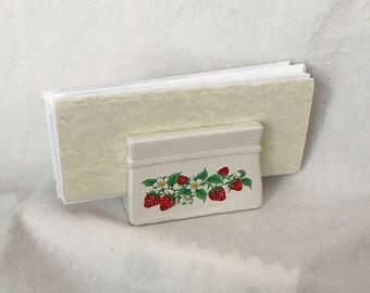 20% OFF SALE Strawberry Napkin or Letter Holder