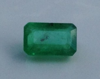 South African Emerald 0.60 Carats 4x6mm Natural Green Gemstone