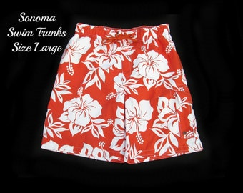 Men's swim trunks, swim shorts, surf shorts, men's summer shorts,  swim trunks,  size large,   # 23