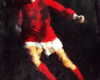 George Best, Football Player, Irish, Figurative Art, Fine Art Prints