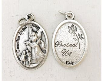 Guardian Angel Medal/ Protection Jewelry/ Add on Charm