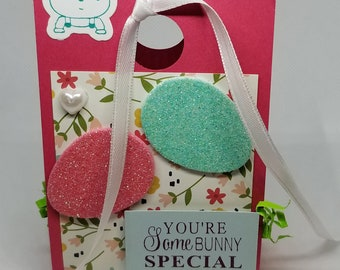 Easter Treat Box-Pink/Turquoise/Floral