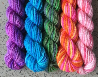Bertie Botts Hand Dyed Yarn Mini Skein Set - 25 yard skeins for Harry Potter lovers