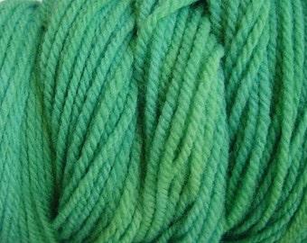 Daddy Green Worsted Weight Hand Dyed Merino Wool Yarn
