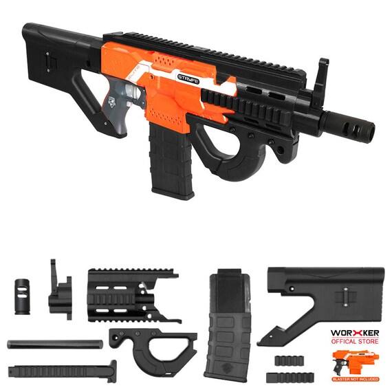 XSW Mod 3D Print Hera CQR Rifle Imitation Kit Black For Nerf