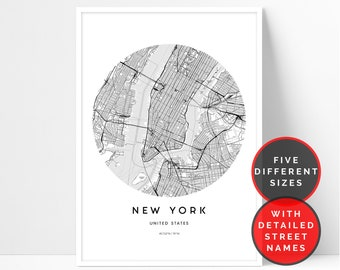 new york map print new york city map printable wall art map of new york wall art travel poster new york poster new york street map print