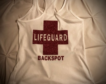 Cheer Backspots Are Lifeguards T-shirt OR Tank Many Colors CHEER T-shirt  Perfect gift Lifeguard Shirt Ask Me to Design Something For YOU