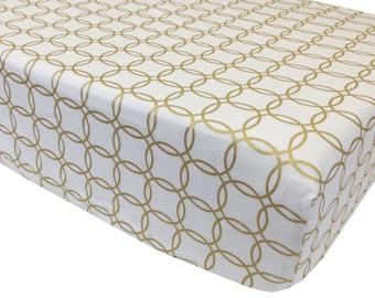 reg. price 26.00 Gold Rings Crib Sheet
