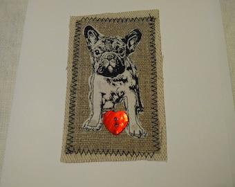 French Bulldog greetings card