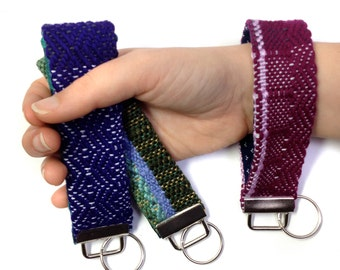Maui   Colorful Woven Gifts for Girlfriends   Handwoven Keychain Set   Gift Trio of Boho Woven Key Fobs   Modern Bracelet Key Chains for Her
