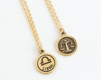 Gift For Women - Libra Necklace - Personalized Zodiac Necklace - Custom Zodiac Jewelry -  Astrology Pendant - Gift For Daughter