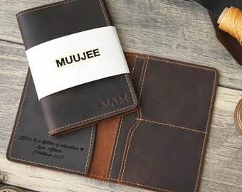 Embossed Passport Holder, Personalized Passport Cover, 3rd Leather Anniversary Gift, Custom Travel Wallet, Passport Wallet Sleve