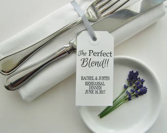 Timeless Rehearsal Decor-THE PERFECT BLEND-PersonalizedTable Decor-Rehearsal Decorations- Rehearsal Ideas-Rehearsal Napkins