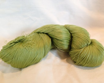 Shades of Green Vintage Japanese Silk Thread with Natural Dyes (size 3)