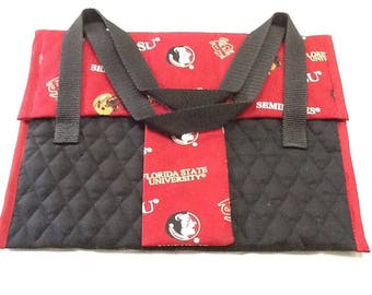 Ipad, tote, notebook, garnet, gold, black, quilted,