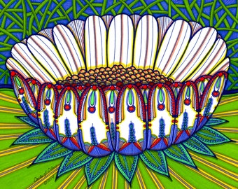 "teacup lotus : GICLEE PRINT  11""X14"""