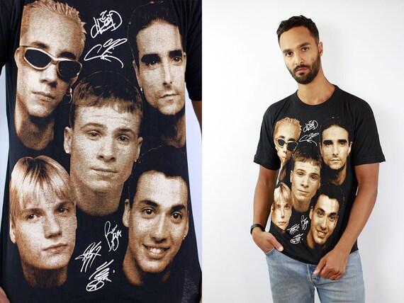 Backstreet Boys T-Shirt Backstreet Boys Shirt Vintage 90s T-Shirt Band T-Shirt Vintage Band Shirt Black T-Shirt Boyband T-Shirt Black Shirt