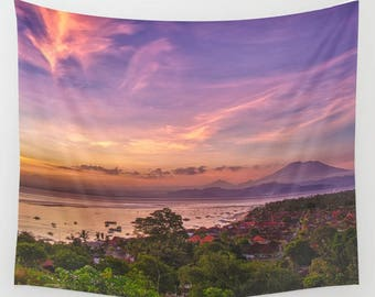 Sunset Tapestry, Sky tapestry, sky wall hanging, sunset wall hanging, dorm room decor, dorm tapestry