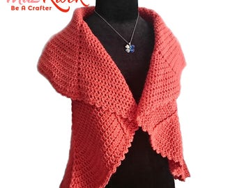 Crocheted Whirlwind circle vest - free worldwide shipping
