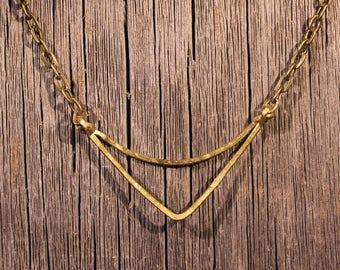 Brass Arc Necklace