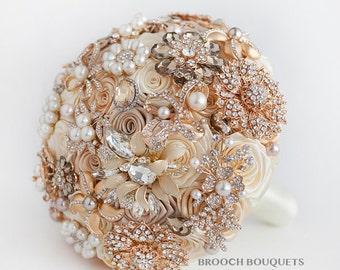 Brooch Bouquet Bridal Bouquet Green Wedding Bouquet