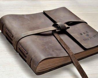 Customized design wedding gift,leather Photo Album,leather journal, wedding guestbook