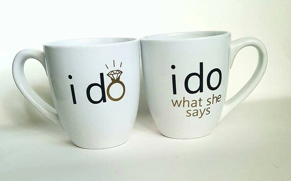Wedding Engagement Gifts For Couples: Engagement Gift/ Engagement Mugs/ Couples Mugs/ Wedding Gift