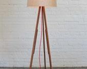 Modern Floor Lamp (natural/red)