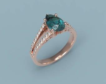 Rose Gold Alexandrite Engagement Ring Alexandrite Ring Rose Gold Alexandrite Diamond Ring Alexandrite Ring