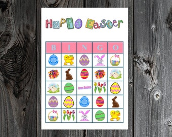 Easter Bingo 30 Printable Easter Holiday Party Bingo Game Cards