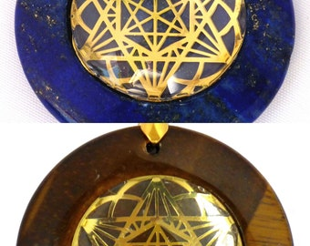 Star of David/ Seed of Life Circular Sacred Geometry Pendant