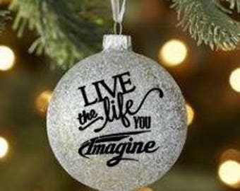 Glitter Ornament - Live the life you imagine for Grand Design Imagine Camper owners